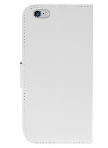 Microsonic Cüzdanlı Deri iPhone  6 (4.7'') Kılıf Beyaz Renkli